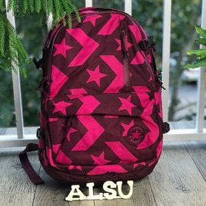NWT Converse Straight Backpack Pink Stars✨W AUTHEN